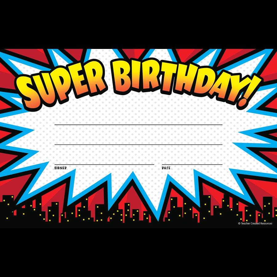 TCR 5844 SUPER BIRTHDAY AWARD