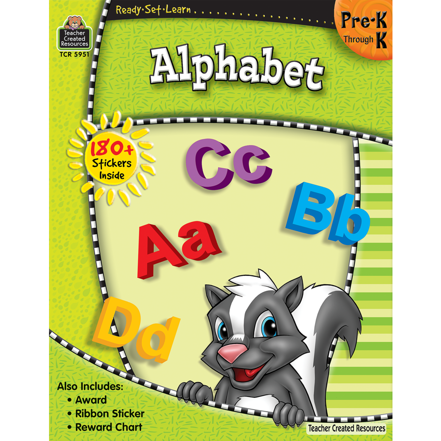TCR 5951 READY-SET-LEARN ALPHABET PRE K-K
