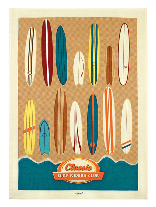 Classic Surfboards Teatowel