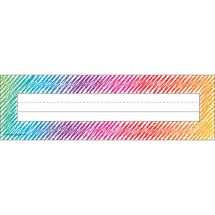 TCR 2690 COLORFUL SCRIBBLE NAMEPLATES
