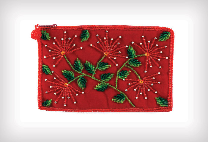 Beaded Makeup Purse