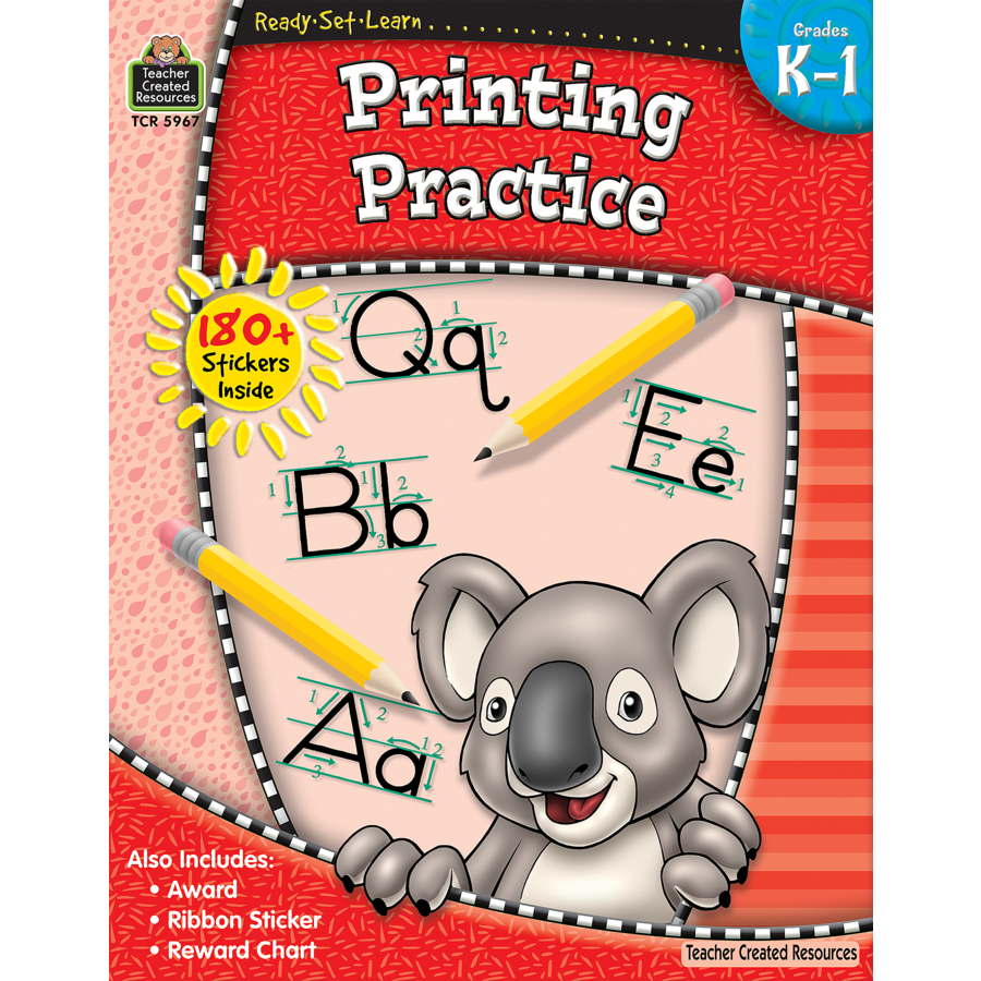 TCR 5967 READY-SET-LEARN PRINTING PRACTICE K-1