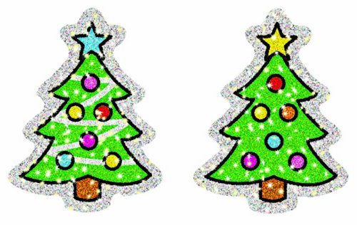 CD 2938 CHRISTMAS TREES DAZZLE STICKERS