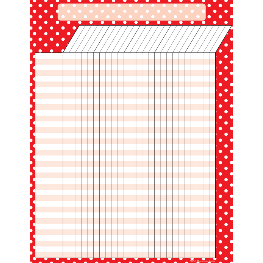 TCR 7661 RED POLKA DOTS INCENTIVE CHART