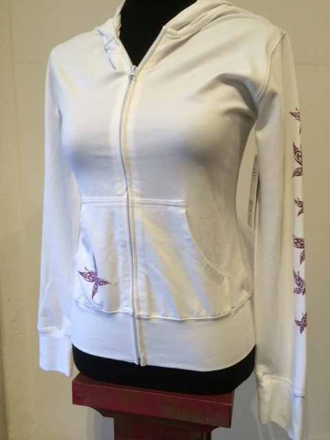Womens Lite Butterfly Hoodie White