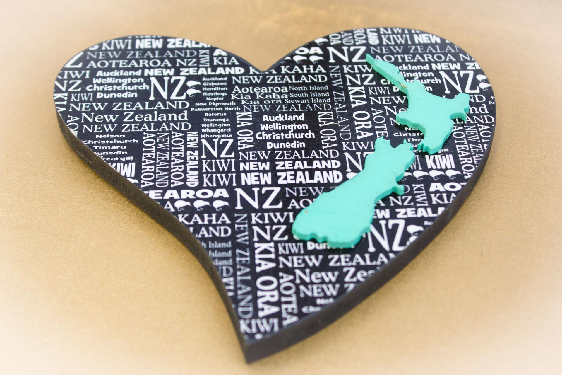 Large Heart NZ Shape Turquoise