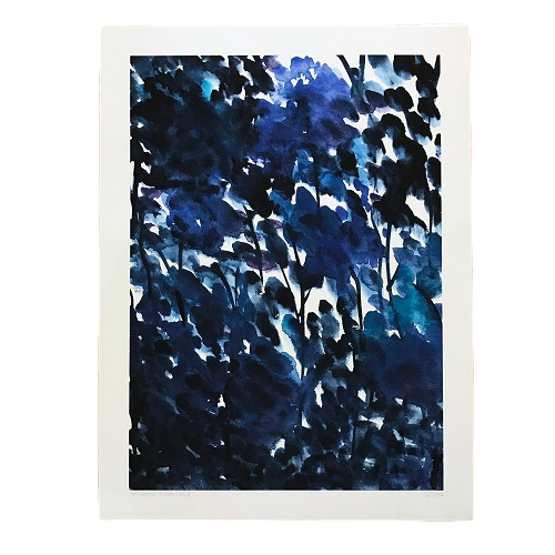 Cascading Blue Flowers - Giclee Print