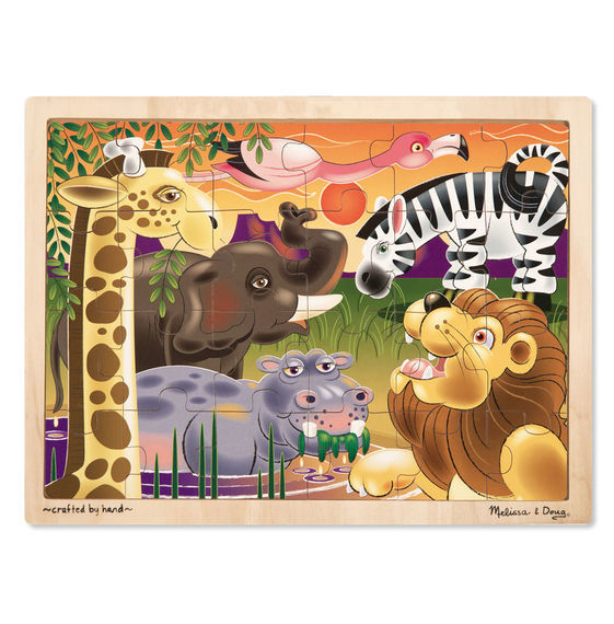 MD 2937 AFRICAN PLAINS JIGSAW 24 PC