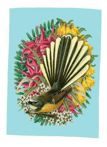 Botanical Fantail Teatowel