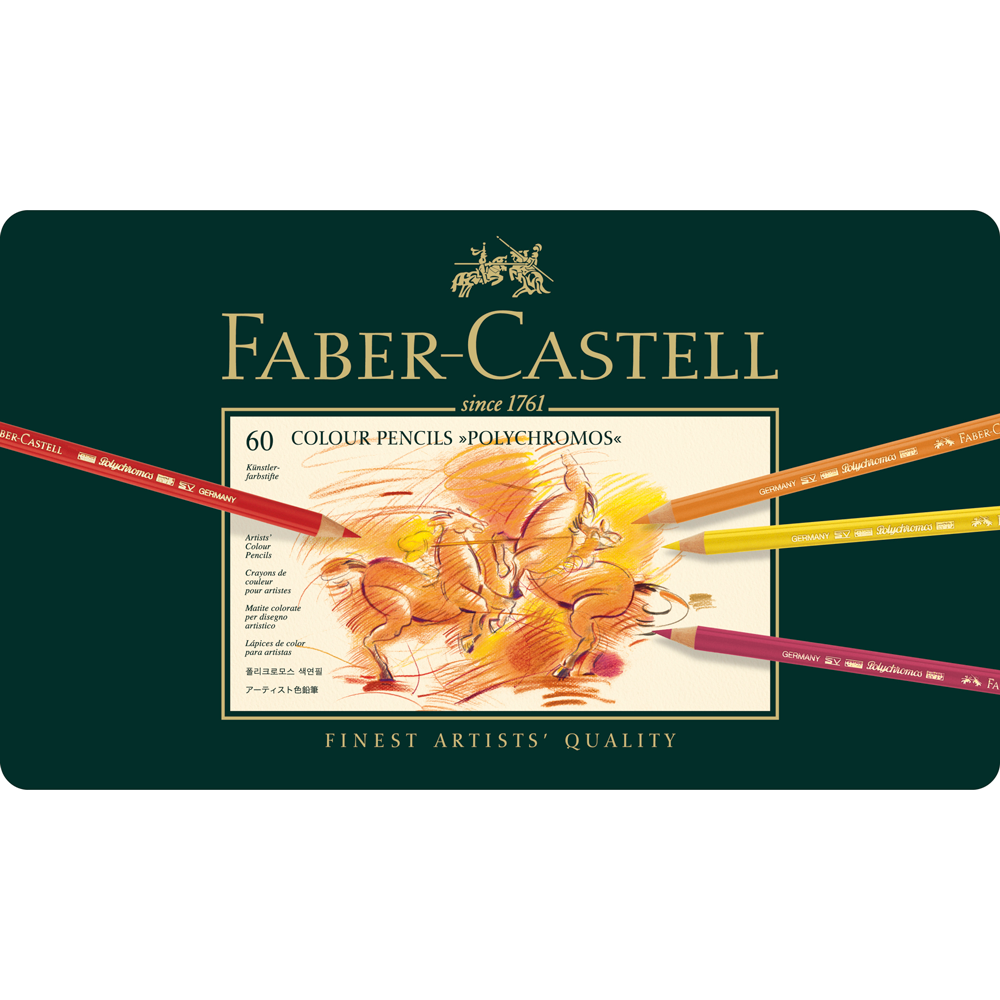 Faber Castell Polychromos Artists' 60 Pencil Tin