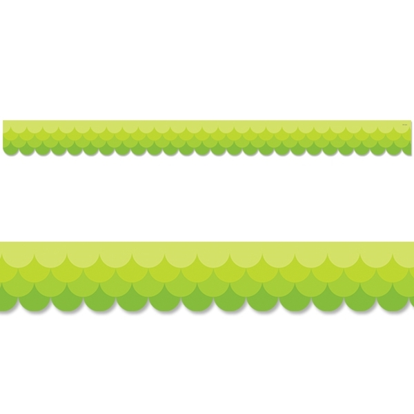 CTP 0181 PAINTED PALETTE OMBRE LIME GREEN SCALLOPS BORDER