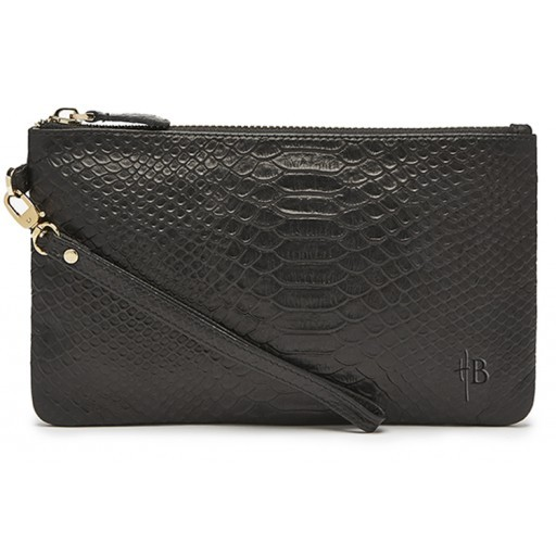 HBUTLER - MIGHTY PURSE IN REPTILE BLACK