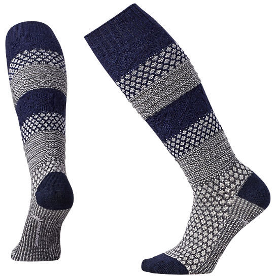 SMARTWOOL - POPCORN CABLE KNEE HIGH LIGHT GREY HEATHER