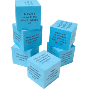 TCR 20634 FOAM READING COMPREHENSION CUBES
