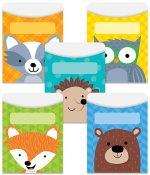 CTP 6744 WOODLAND FRIENDS LIBRARY POCKETS