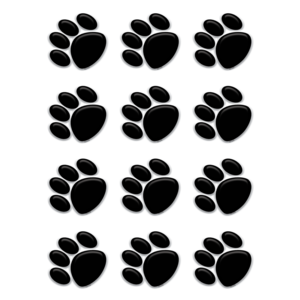 TCR 5118 BLACK PAW PRINT MINI CUTOUTS