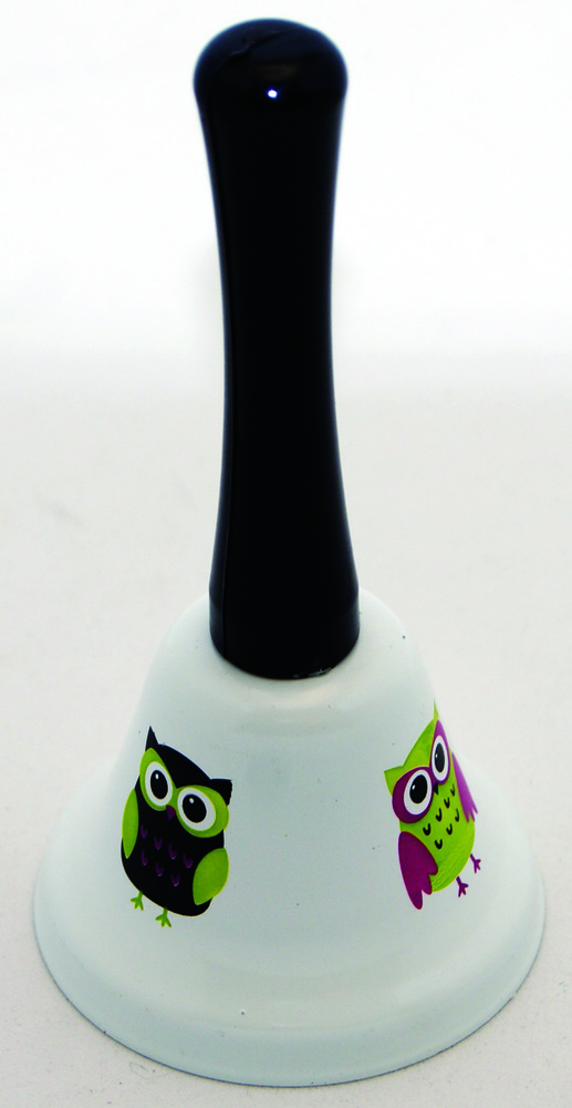 AP 10514 WHITE OWLS HAND BELL