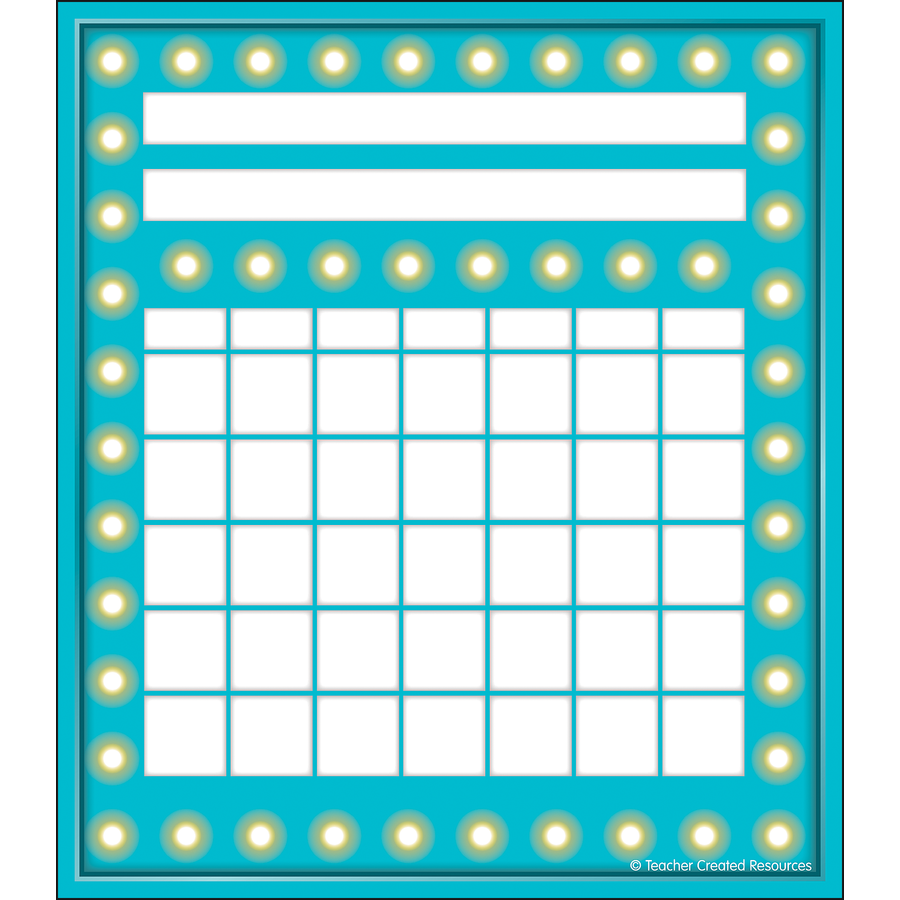 TCR 5436 MINI INCENTIVE CHART LT BLUE MARQUEE