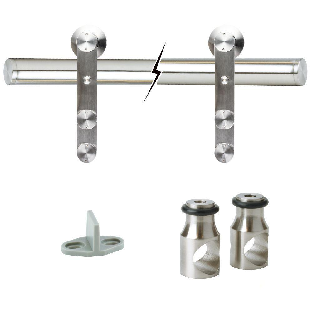 Barn Door Hardware - Satin Nickel