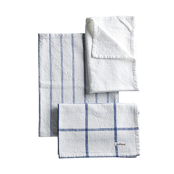 TEA TOWEL BLUE/WHITE