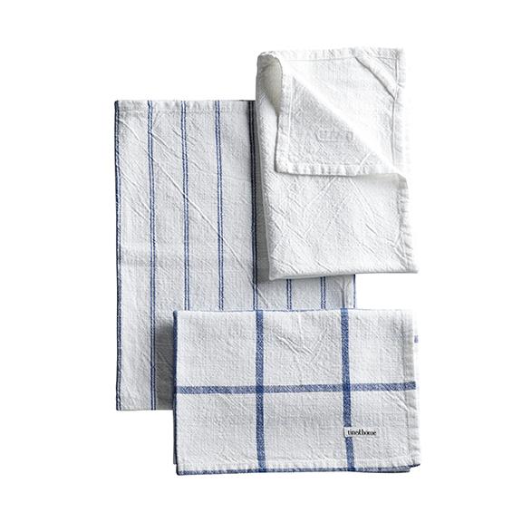 TEA TOWEL BLUE/WHITE