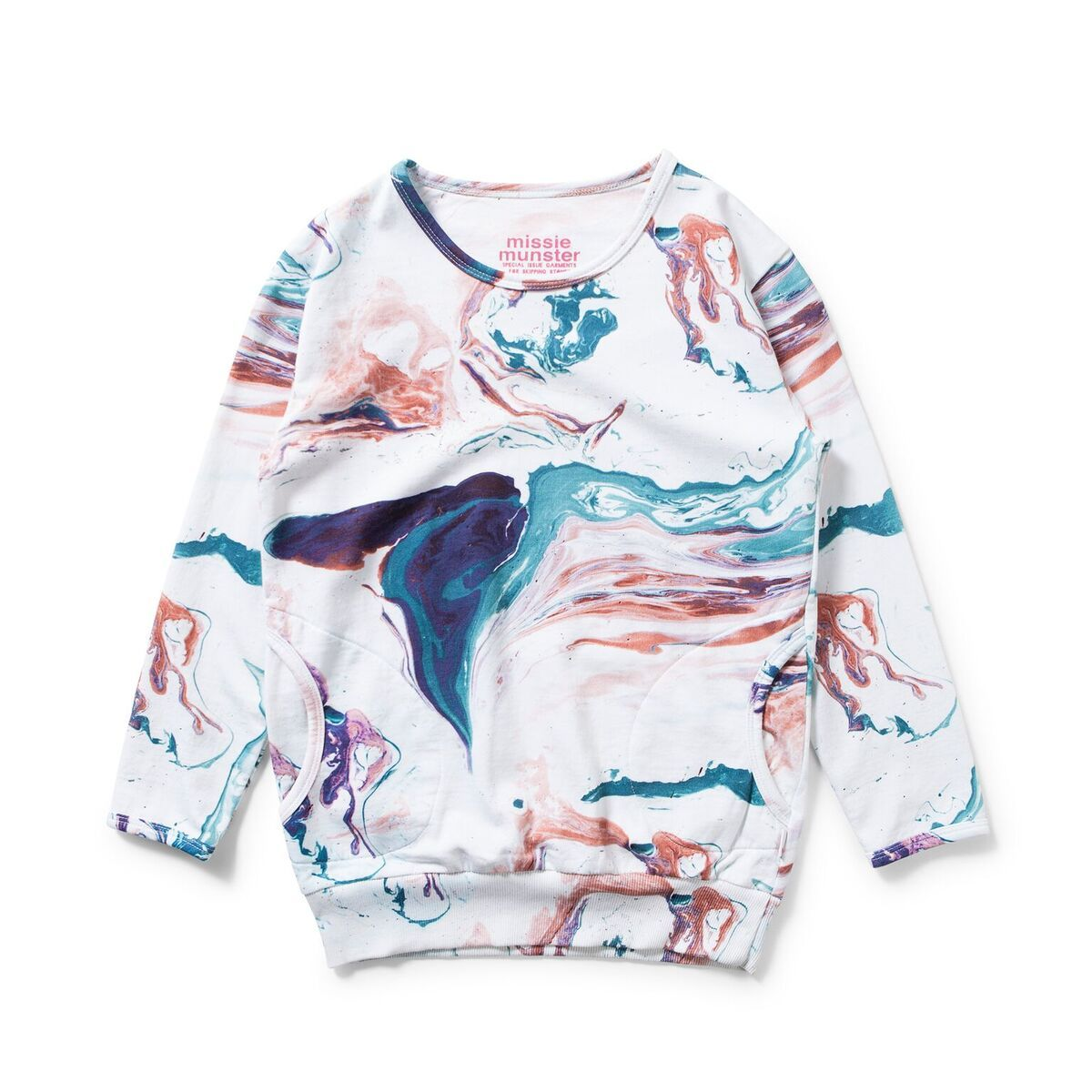 CHERRY PIE Marble Crew Sweat