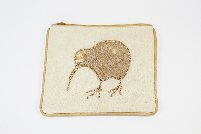 Gold Kiwi Small Coin Purse