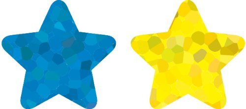 CD 5274 STARS MULTICOLOR FOIL STICKERS