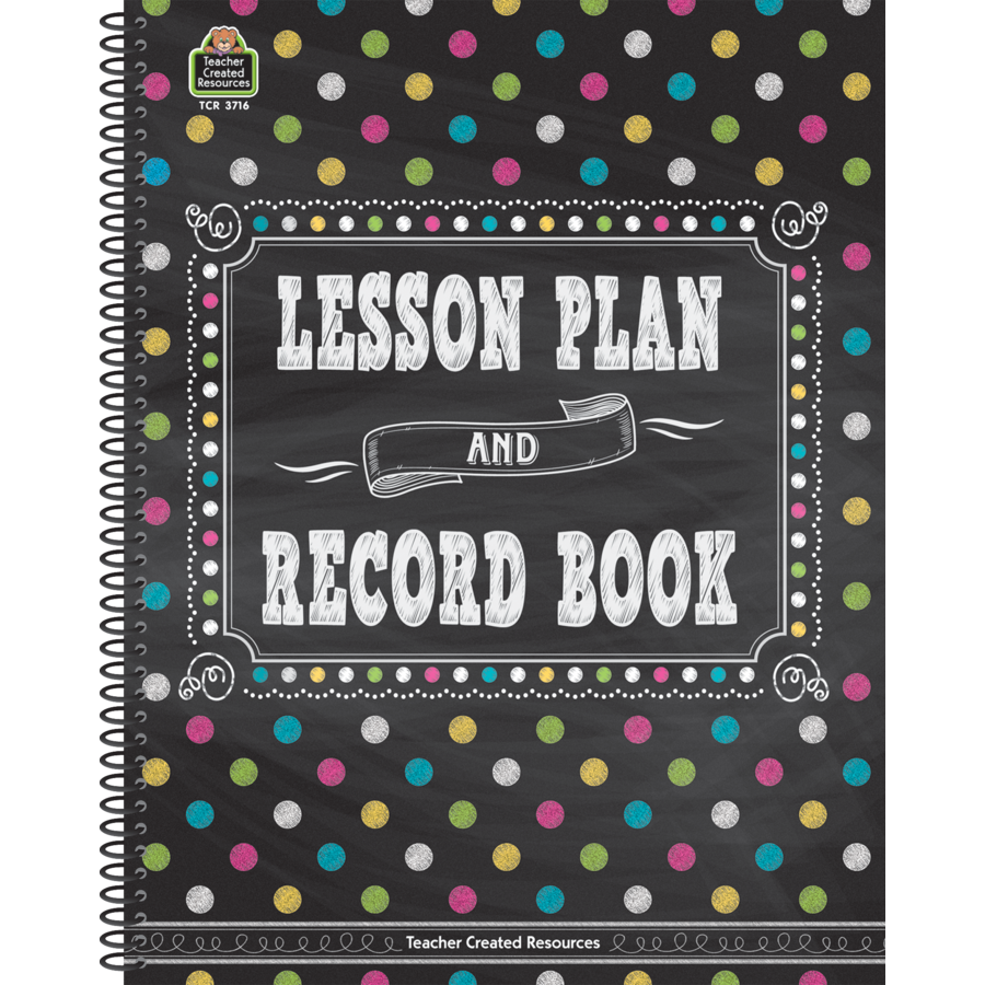 TCR 3716 LESSON PLAN AND RECORD BOOK CHALK IT UP DOTS