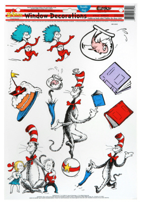 EU 836025 CAT IN THE HAT CHARACTERS CLINGS