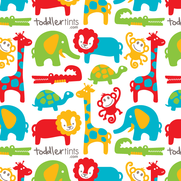 Toddler Tints Window Shade - Zoo Friends