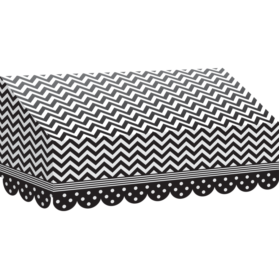TCR 77164 BLACK AND WHITE CHEVRON AWNING