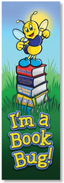 NS 2012 I'M A BOOK BUG BOOKMARK