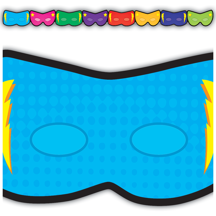 TCR 3514 SUPERHERO MASKS BORDER