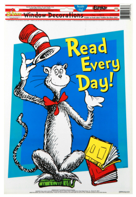 EU 836024 CAT IN THE HAT READ EVERY DAY CLINGS