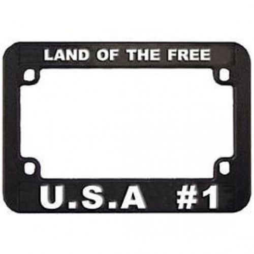 Land of the Free Plastic Motorcycle License Plate Frame | Motorcycle ...