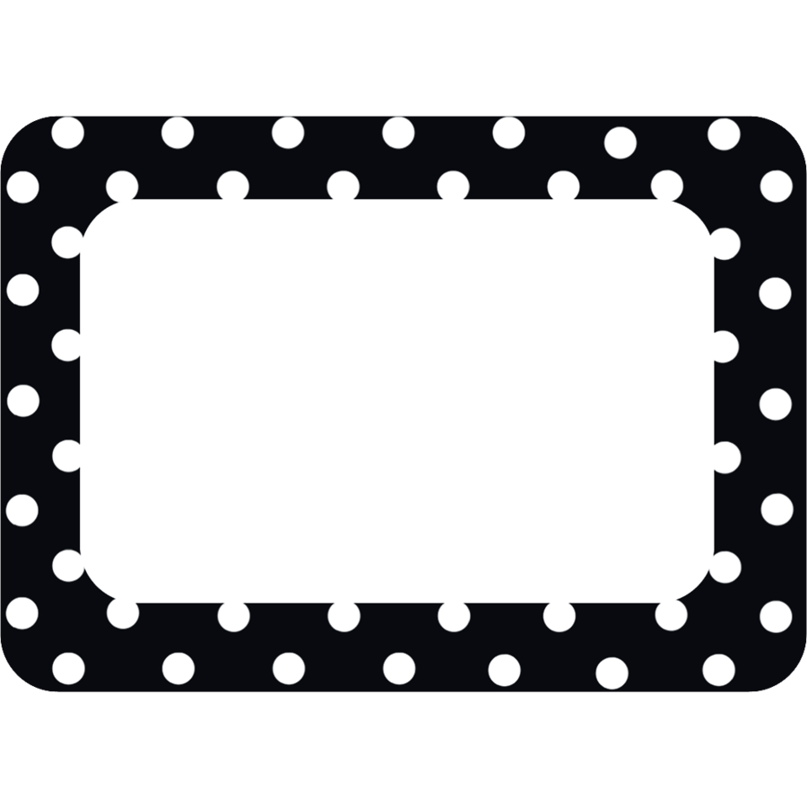 TCR 5538 BLACK AND WHITE NAMETAGS/LABELS