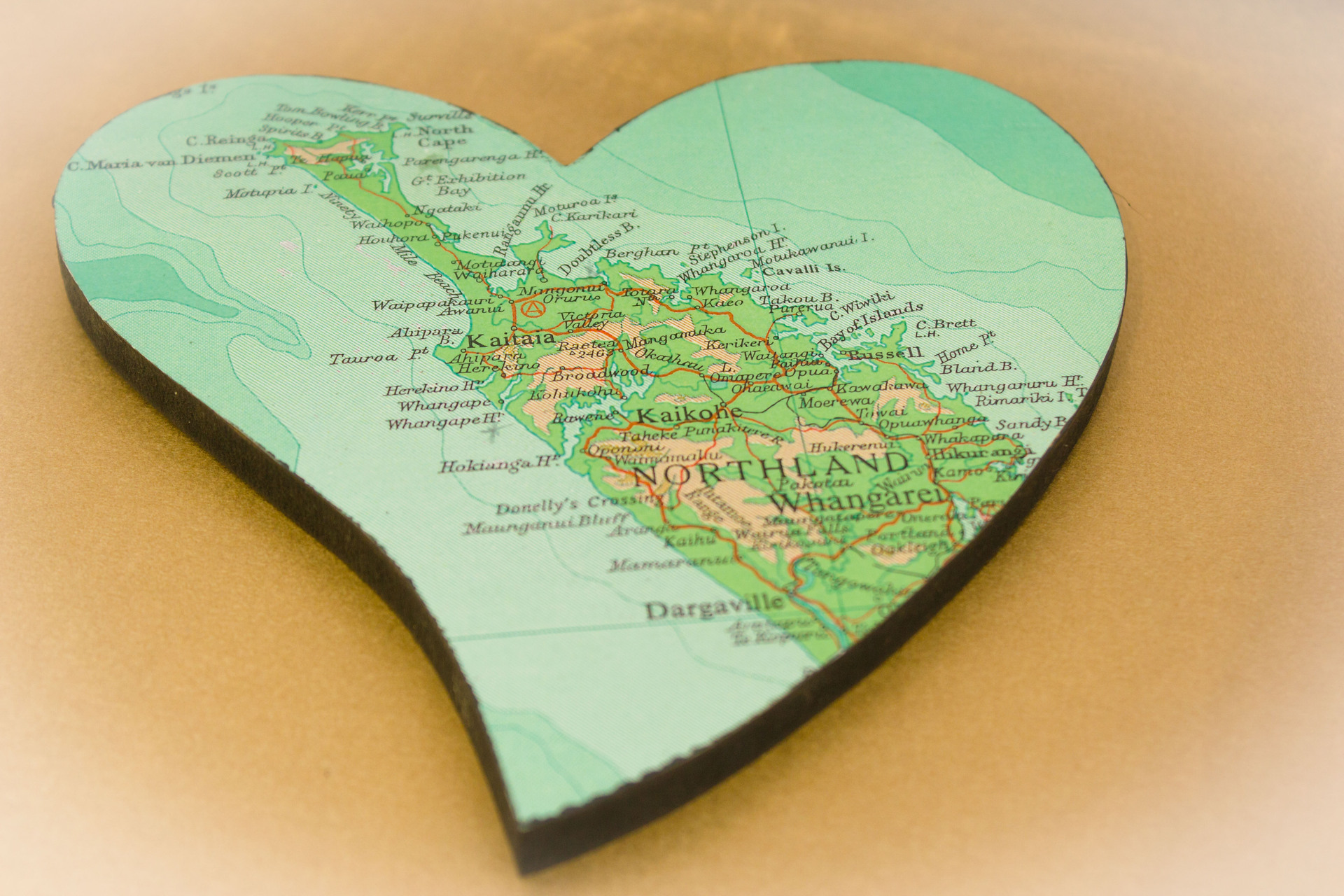Small Heart Northland Road Map