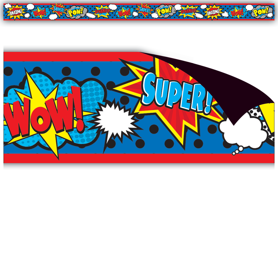 TCR 77131 SUPERHERO MAGNETIC BORDER