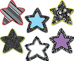 CTP 6484 BLACK/WHITE STARS CUTOUTS