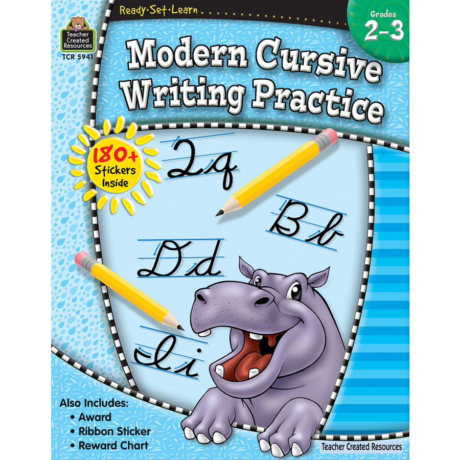 TCR 5941 READY-SET-LEARN MODERN CURSIVE WRITING PRACTICE G2-3