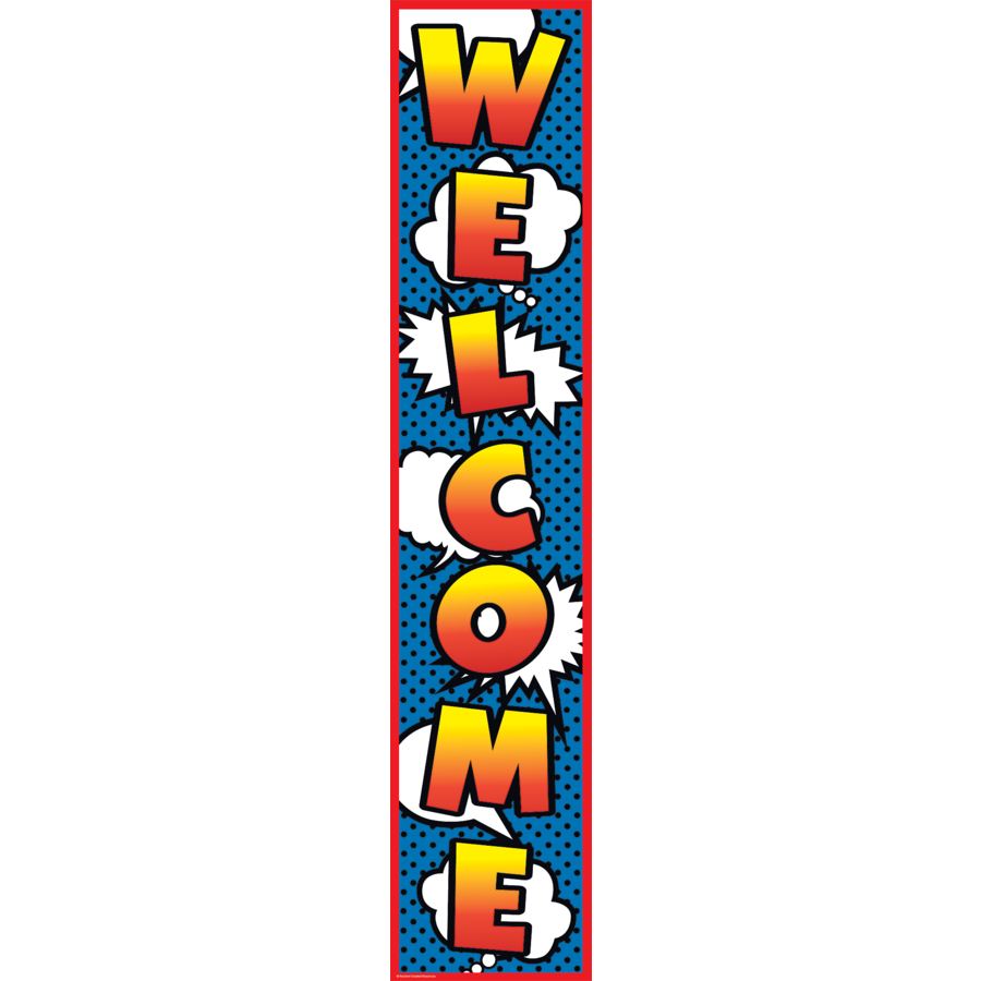 TCR 5644 SUPERHERO WELCOME BANNER