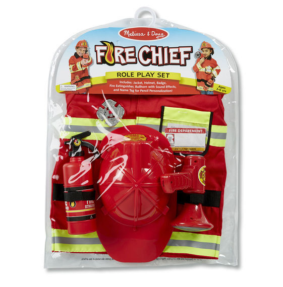 MD 4834 FIRE CHIEF ROLE PLAY COSTUME SET
