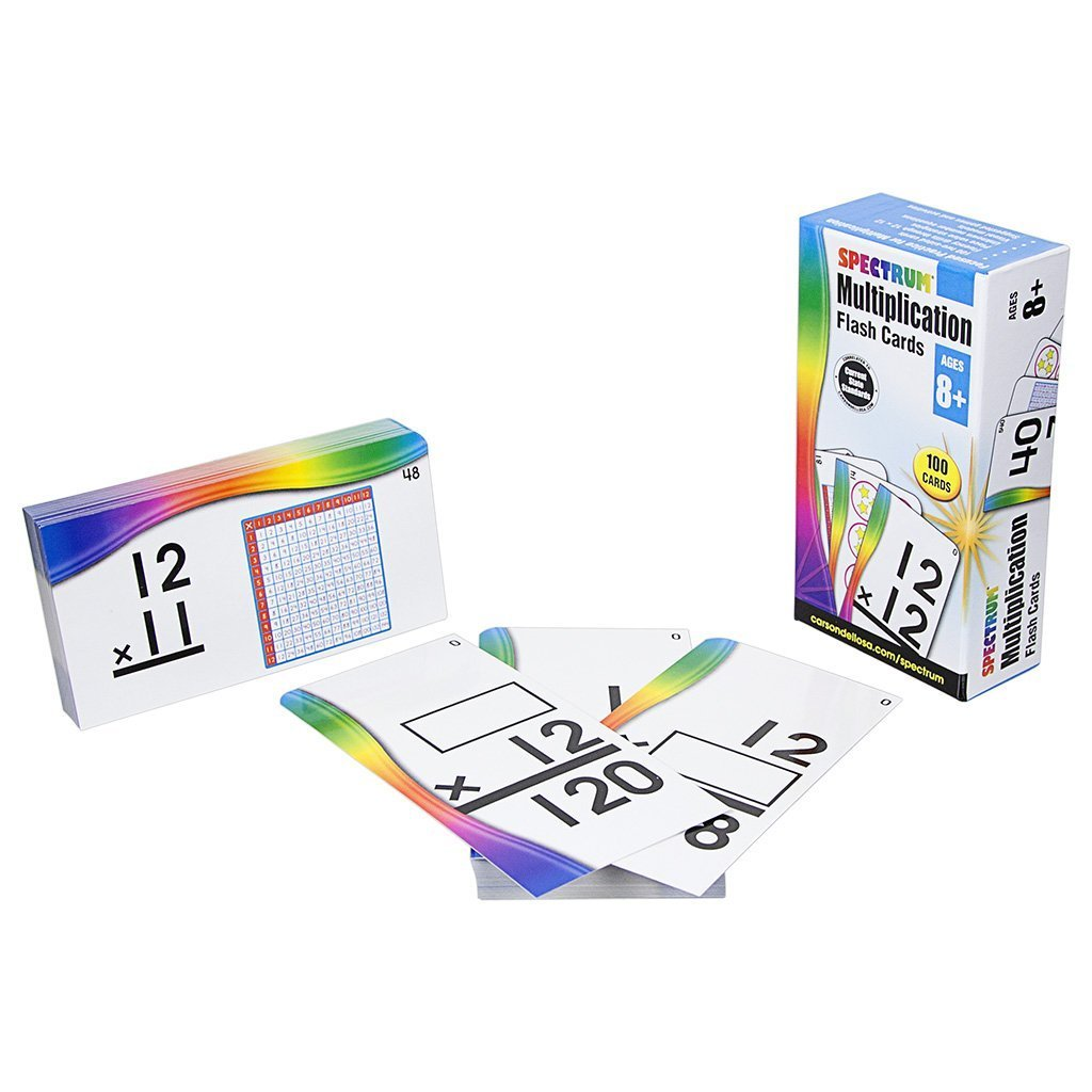 CD 734056 MULTIPLICATION FLASH CARDS AGES 8+