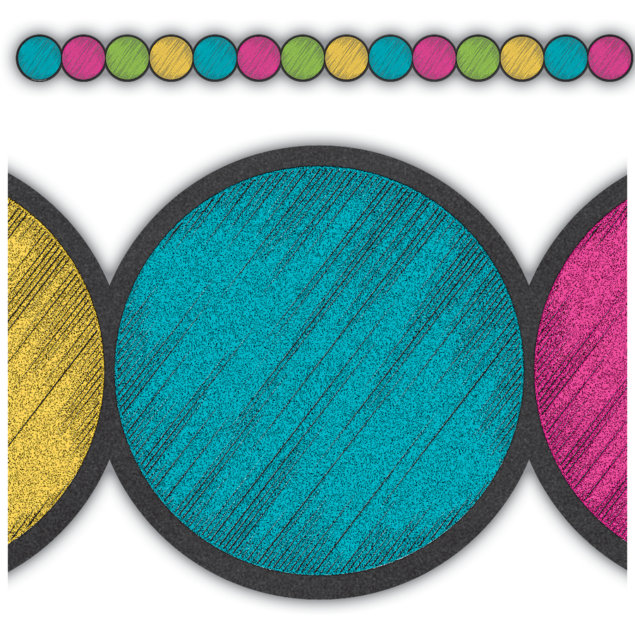 TCR 3498 CHALKBOARD BRIGHTS CIRCLES BORDER