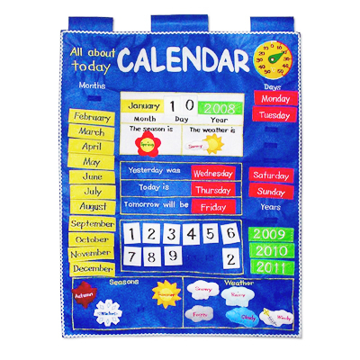 All About Today Wall Calendar Blue