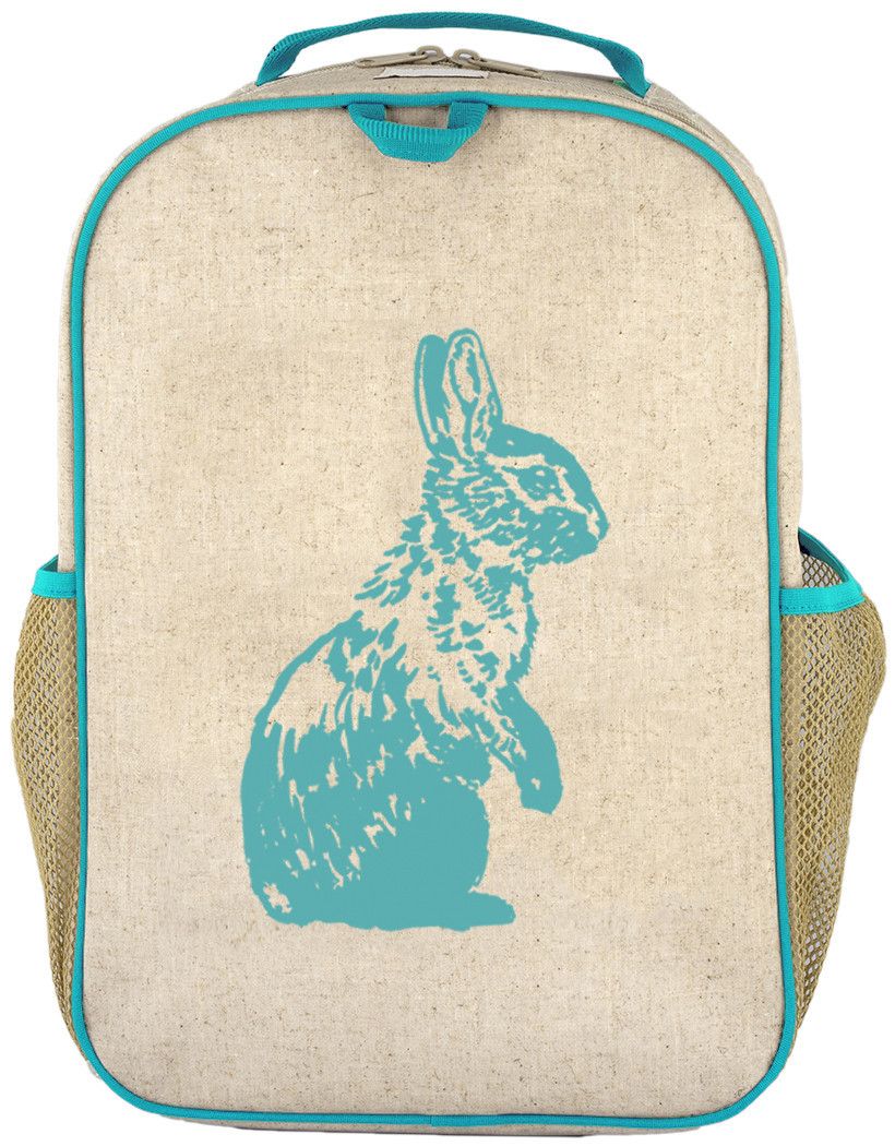 So Young Large Backpack - Aqua Bunny