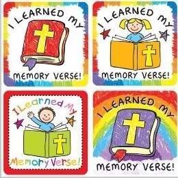 CD 168171 I LEARNED MY MEMORY VERSE! SCRIPTURE STICKERS