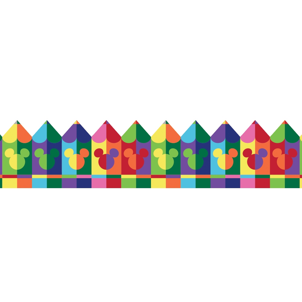 EU 845229 GEO MICKEY PENCILS DECO TRIM