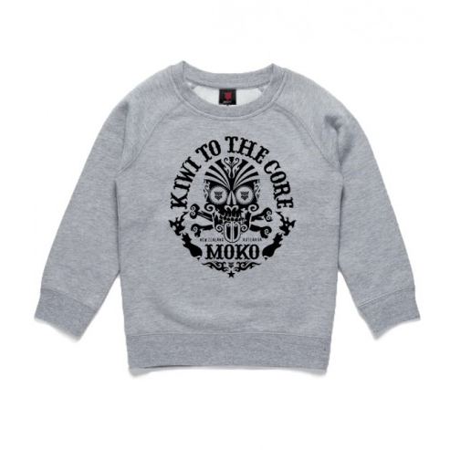 Kids Kiwi to the Core Sweatshirt Grey Marle